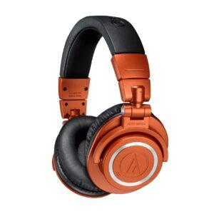 鐵三角ATH-M50x BT2 藍牙 2021限定 亮橙色 監聽耳機